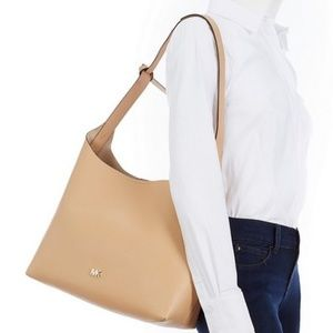 MICHAEL KORS Junie Hobo Leather Shoulder Bag
